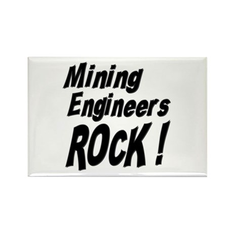 Mining Engineers Rock ! Rectangle Magnet (100 pack