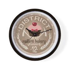 district 12 mellark bakery unique hunge Wall Clock