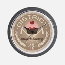 district 12 mellark bakery unique hunge Wall Clock