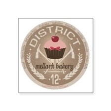"district 12 mellark bakery  Square Sticker 3"" x 3"""