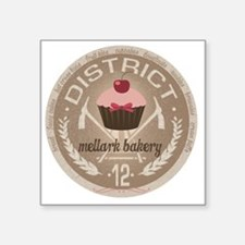 "district 12 mellark bakery  Square Sticker 3"" x 3"""