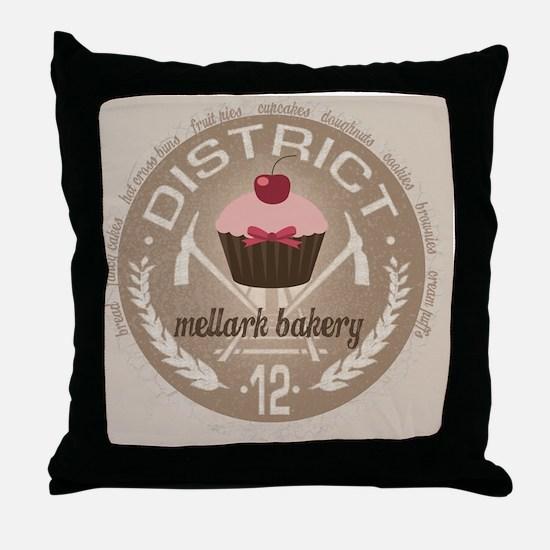 mellark bakery buttons hunger games u Throw Pillow