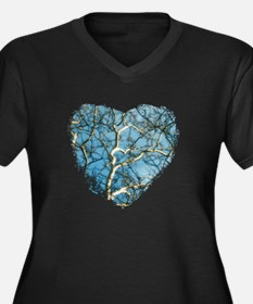 Branches of  Women's Plus Size Dark V-Neck T-Shirt