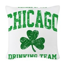Chicago Drinking Woven Throw Pillow