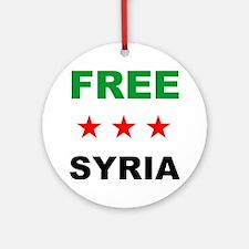 free syria Round Ornament