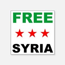 "free syria Square Sticker 3"" x 3"""