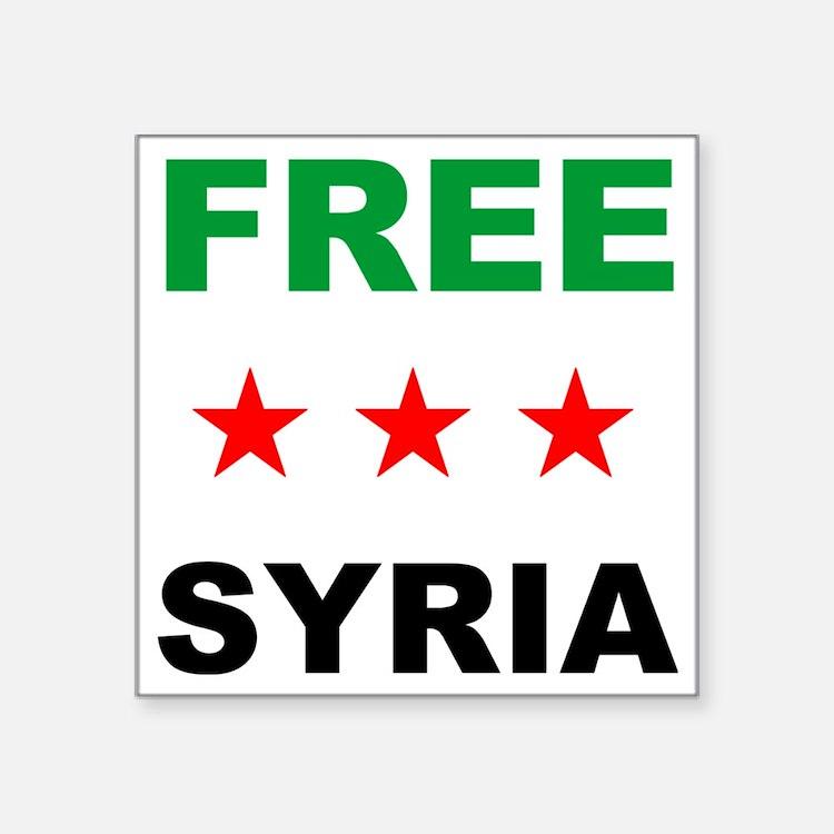 "free syria Square Sticker 3"" x 3"""