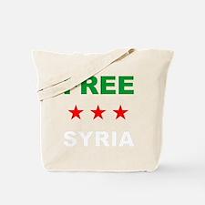 free syria white Tote Bag