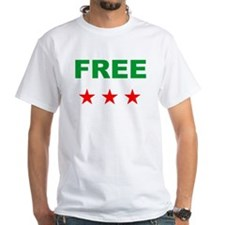 free syria white Shirt