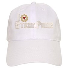 I Love Steampunk Baseball Cap