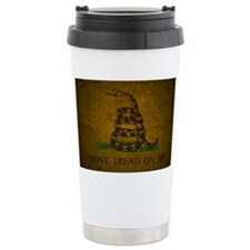 Gadsden_flag_Grunge2 Travel Coffee Mug