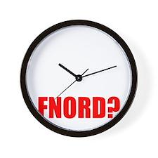 FNORD_10x10_black_apparel Wall Clock