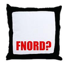 FNORD_10x10_black_apparel Throw Pillow