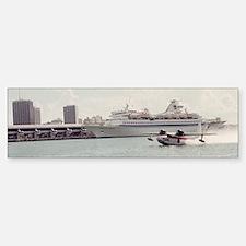 Chalks Seaplane In Biscayne bay,  Bumper Bumper Sticker