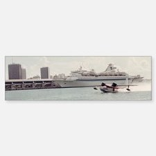 Chalks Seaplane In Biscayne bay,  Sticker (Bumper)