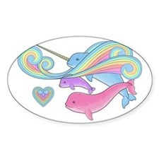 Blue narwhal + Pink narwhal = Purpl Decal