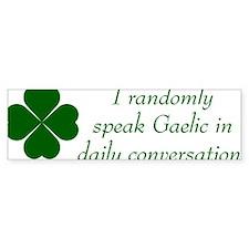 random gaelic Bumper Sticker