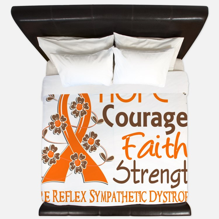 D Hope Courage Faith Strength 3 RSD King Duvet