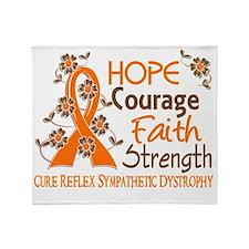 D Hope Courage Faith Strength 3 RSD Throw Blanket
