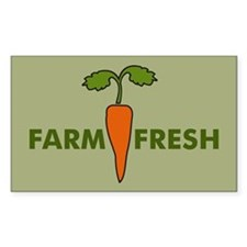 Farm Fresh Rectangle Decal