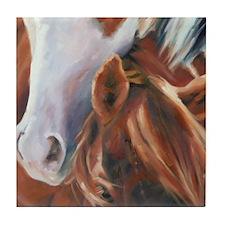 Horse Art Faces II Tile Coaster