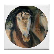 horse face Tile Coaster