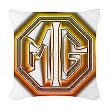 MG Cars Glow Woven Throw Pillow