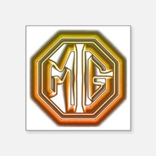 "MG Cars Glow Square Sticker 3"" x 3"""