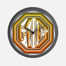 MG Cars Glow Wall Clock