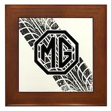 MG Cars Tire Tread copy Framed Tile
