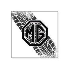 "MG Cars Tire Tread copy Square Sticker 3"" x 3"""