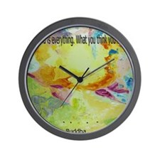 The mind is everything2 10x10 Wall Clock