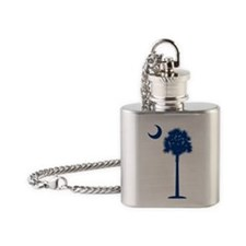 palmetto blue transparent Flask Necklace