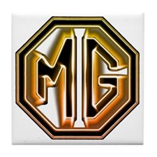 MG Cars Glow for white copy Tile Coaster