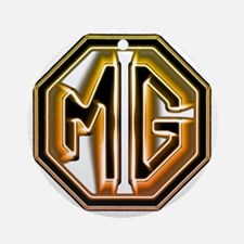 MG Cars Glow for white copy Round Ornament
