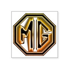 "MG Cars Glow for white copy Square Sticker 3"" x 3"""