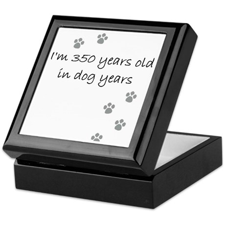 50 dog years 2-1 Keepsake Box