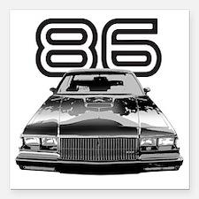 "86 Grnd National copy Square Car Magnet 3"" x 3"""