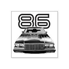 "86 Grnd National copy Square Sticker 3"" x 3"""