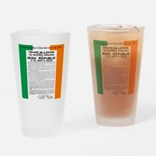 Easter Proclaimation of 1916 Drinking Glass