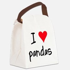 iheartpandas Canvas Lunch Bag