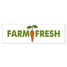 Farm Fresh Bumper Car Sticker