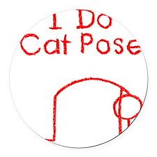 Cat Pose R Round Car Magnet