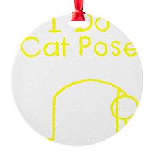 Cat Pose Y Ornament