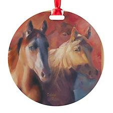 Horse Art Red Ornament
