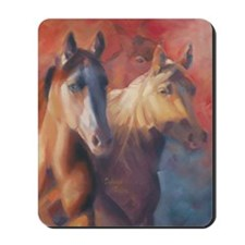 Horse Art Red Mousepad