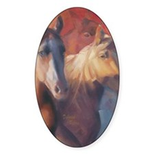 Horse Art Red Decal