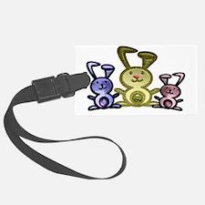 Three Cute Bunnies Art Luggage Tag