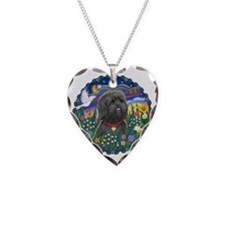 MoonGarden-ShihTzu21-blk Necklace