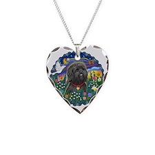 MoonGarden-ShihTzu21-blk Necklace Heart Charm